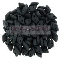 Diamond gyöngy - kétlyukú - Opaque Matte Black - 4x6mm
