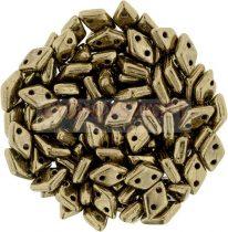 Diamond gyöngy - kétlyukú - Golden Bronze - 4x6mm