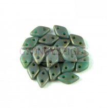 Diamond gyöngy - kétlyukú – Matte Oxidized Bronze Picasso - 4x6mm