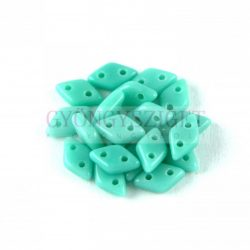 Diamond gyöngy - kétlyukú – Turquoise Green - 4x6mm