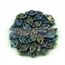 Diamond gyöngy - kétlyukú – Oxidized Bronze Picasso - 4x6mm