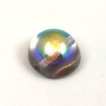Dome cseh préselt üveggyöngy - crystal graphite rainbow - 12x7 mm