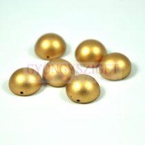 Dome cseh préselt üveggyöngy - aztec gold - 14x8mm