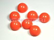 Dome cseh préselt üveggyöngy - peach coral - 14x8mm