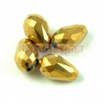 Csiszolt csepp gyöngy 15x10mm - Dorado