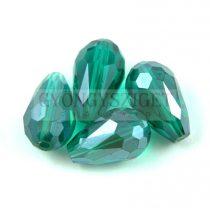 Csiszolt csepp gyöngy 15x10mm - Emerald