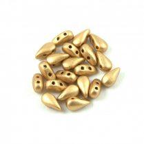 DropDuo - cseh préselt kétlyukú gyöngy - Aztec Gold - 3x6mm