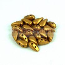 DropDuo - cseh préselt kétlyukú gyöngy - Brass Gold - 3x6mm