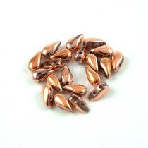 DropDuo - cseh préselt kétlyukú gyöngy - Crystal Full Capri Gold - 3x6mm