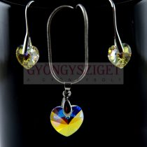 Ékszer szett - Swarovski szív - 6228 - Crystal AB