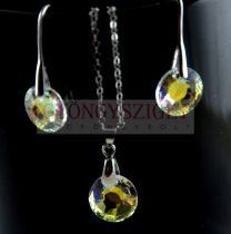 Ékszer szett - Swarovski medál Nap bemarással - 6724 - Crystal AB