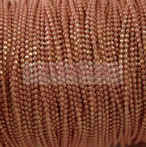 Ékszerlánc - golyós - pastel pink gold - 1.5mm