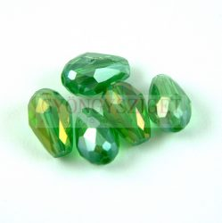 Firepolished Faceted Glass Bead - Teardrop - 15x10mm - Erinite AB