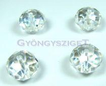 Csiszolt kristály fánk - kristály ab - 8x10mm