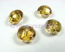 Csiszolt kristály fánk - light colorado topáz ab - 9x12mm