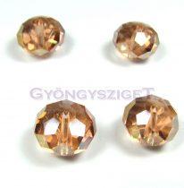 Csiszolt kristály fánk - brandy ab - 9x12mm