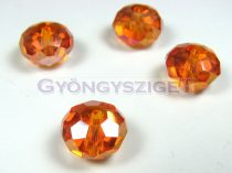 Csiszolt kristály fánk - hyacint ab - 9x12mm