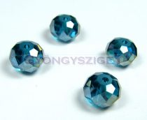 Csiszolt kristály fánk - blue zircon ab - 8x10mm