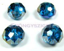 Csiszolt kristály fánk - blue zircon ab - 9x12mm