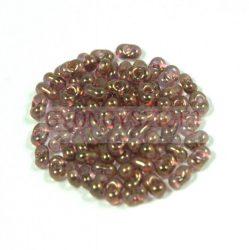 Cseh farfalle gyöngy - kristály-terrakotta lüszter - 2x4mm