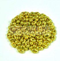 Cseh farfalle gyöngy - arany - 2x4mm