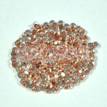 Cseh farfalle gyöngy - vörösréz közepű kristály - 2x4mm