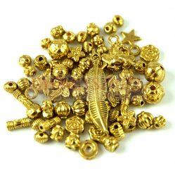 Fém alkatrész mix - antik arany színű