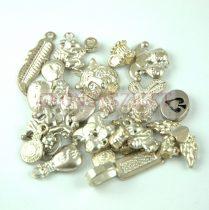 Fém alkatrész mix - antik ezüst színű