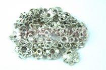 Fém alkatrész mix - gyöngykupak - antik ezüst színű