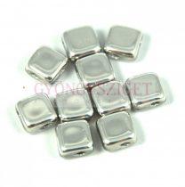 Flat Silky gyöngy - silver - 6x6mm