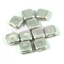 Flat Silky gyöngy - Silver - 6x6mm - 100db