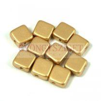 Flat Silky gyöngy - aztec gold- 6x6mm