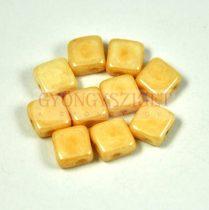 Flat Silky gyöngy - ivory - 6x6mm