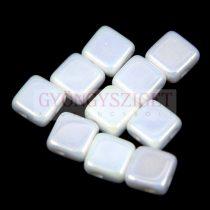 Flat Silky gyöngy - alabástrom írisz - 6x6mm