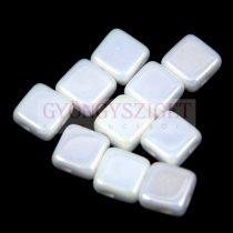 Flat Silky gyöngy - alabaster iris - 6x6mm - 100db