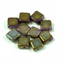Flat Silky gyöngy - jet metallic iris bronze - 6x6mm