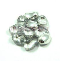 Préselt virágszirom gyöngy - Tulip Petal - 8x6mm - kristály ezüst