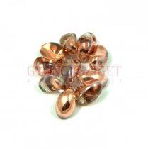 Préselt virágszirom gyöngy - Tulip Petal - 4x6mm - crystal apollo