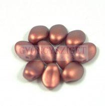 Préselt virágszirom gyöngy - Tulip Petal - 8x6mm - Rose Bronze Golden Shine