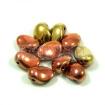 Préselt virágszirom gyöngy - Tulip Petal - 8x6mm - california gold rush