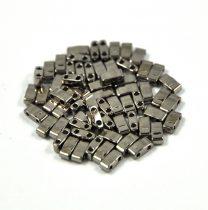Miyuki féltila gyöngy - 190 - nikkel (sötét ezüst) - 2.5x5mm