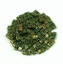 Miyuki féltila gyöngy - 306 - arany lüszteres mohazöld - 2.5x5mm