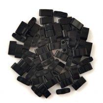 Miyuki féltila gyöngy - 401 - fekete - 2.5x5mm