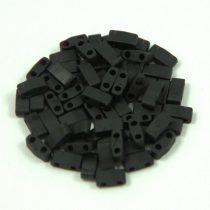 Miyuki féltila gyöngy - 401f - matt fekete - 2.5x5mm
