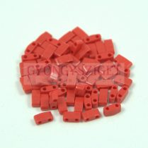 Miyuki féltila gyöngy - 408 - Opaque Dark Red - 2.5x5mm - 10g - AKCIOS
