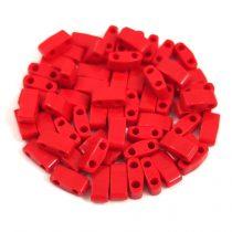Miyuki féltila gyöngy - 408 - telt sötét piros - 2.5x5mm