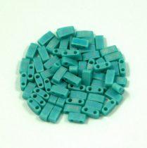 Miyuki féltila gyöngy - 412fr - Matte Rainbow Turquoise Green - 2.5x5mm - 10g-AKCIOS