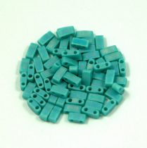 Miyuki féltila gyöngy - 412fr - Matte Rainbow Turquoise Green - 2.5x5mm