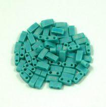 Miyuki Fél Tila japán üveggyöngy - 412fr - Matte Rainbow Turquoise Green - size: 2.5x5mm - 50g