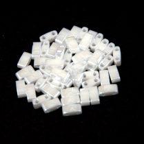 Miyuki Fél Tila japán üveggyöngy - 420 - ceylon white - size: 2.5x5mm - 50g